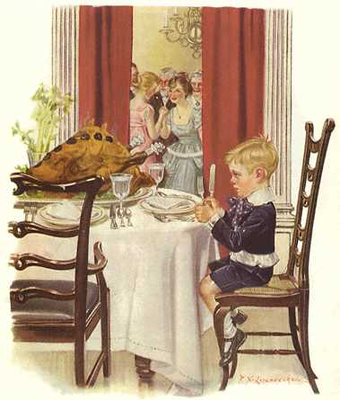 Boy and Turkey