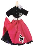 Poodle skirt with poodle shirt and scarf